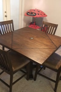 Used Solid Wood Dining Table And Buffet For Sale In