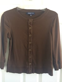 Brown button-up cardigan