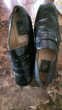 Pair of Black LEATHER  Dress Shoes, size 12 (45).  London, N6K 2X6