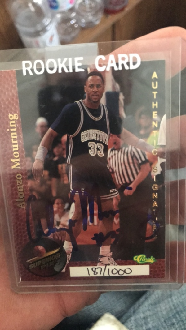 Alonzo Mourning Rookie Auto Serial Numbered 1871000