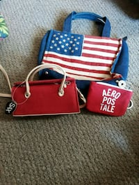 red and blue leather tote bag Hagerstown, 21740
