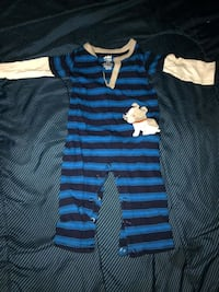 blue and black stripe onesie Gaithersburg, 20878