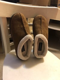 Pair of brown suede slip-on shoes size 10 Winnipeg, R2L 1P8