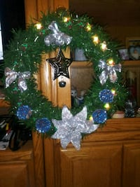 green and blue Christmas wreath Derry, 03038
