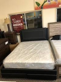 Brand New Queen Platform Bed frame with footboard drawers and mattress $499 Only, No Credit Needed Finance Sacramento, 95818