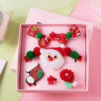 Girls Xmas hair clip set  2219 mi