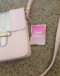RoseGold Juicy Couture Leather Crossbody Bag