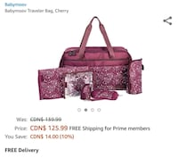 Babymoov Travel Diaper Bag  Mississauga, L5M 3Y2