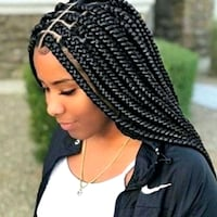 contact me for different braiding styles and extensions.  Asker, 1386