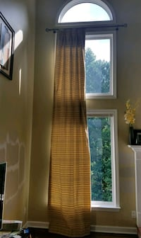 Double Window Extra Long Length Curtains Johns Creek