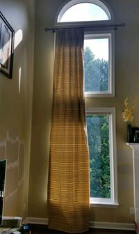 Double Window Extra Long Length Curtains (2 panels)
