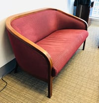 Brown and red fabric padded chair North Miami, 33168