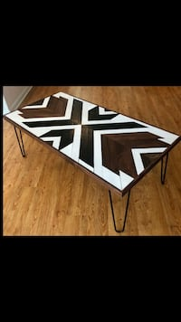 Handcrafted Geometric Coffee Table  New Orleans