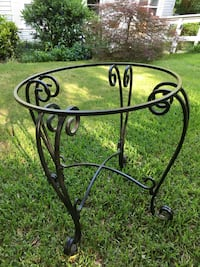 Wrought Iron Glass Table Cropwell, 35054