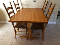 Solid wood kitchen table and four chairs Bel Air, 21015