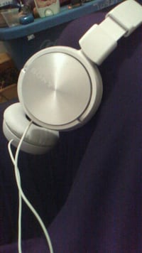 white Sony corded headphone Grande Prairie, T8V 5M7