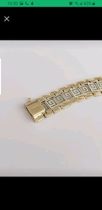 10k solid  two tone Gold bracelet versace style