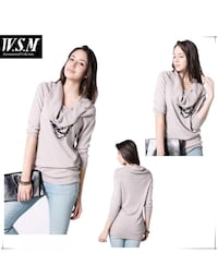 Sweater cowl neck loose knitted stylish Federal Way, 98023