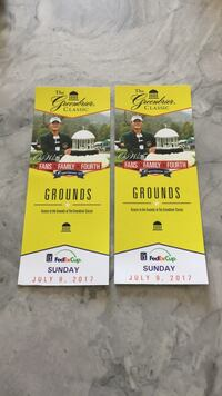two The greenbrier Classic grounds tickets Ashburn, 20147