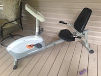 white and black stationary bike 646 mi