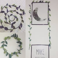 Green leaf long garland for kids baby home decor Edmonton, T5E 2S5