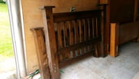 brown wooden headboard and footboard Anmore, V3H 5G6