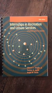 Internships in Recreation and Leisure Services TEXTBOOK Lethbridge, T1H 4T6