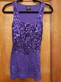 Women's purple sleeveless top