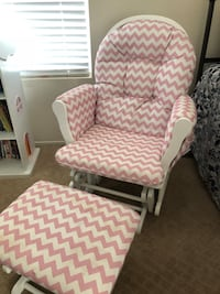 white and pink fabric padded glider chair Las Vegas, 89130