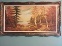 brown wooden framed painting of trees Hamilton, L8H 4E9