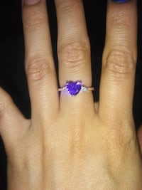 925 silver ring with purple heart Atwater, 95301