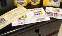 Enfamil baby formula 3 coupons($5; $5; $10), 12 gift cards for baby shops and one coupon For Playtex Bottle Burbank, 91501