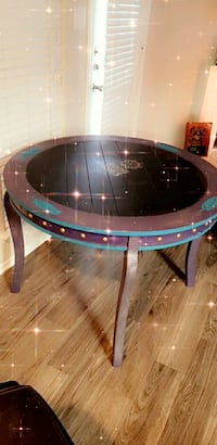 Hand painted  chalk board table