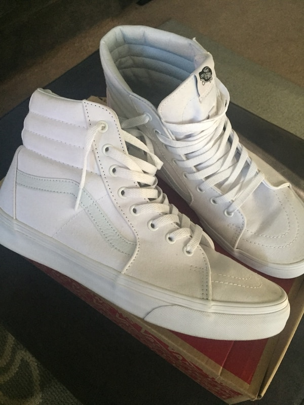 bfd0cacfc7 Used Vans SK8 Hi All White for sale in Santa Clarita - letgo
