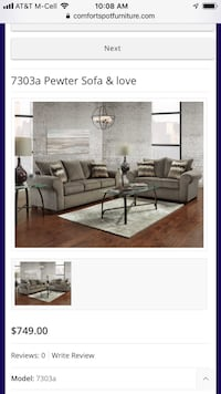 7303 Pewter Sofa and Love  Balch Springs, 75181