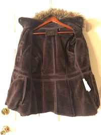 Brown soft coat with fur lined hood Sacramento, 95831