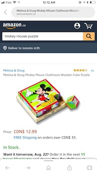 Mickey Mouse wooden puzzle set Toronto, M2K 1G7