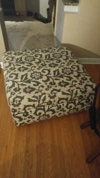 white and black floral fabric sofa chair Thorold, L0S 1E6