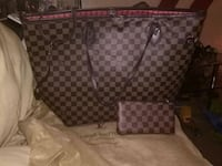 monogrammed brown Louis Vuitton leather tote bag Taneytown, 21787