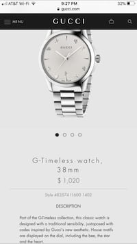 round silver-colored analog watch with link bracelet screenshot Lutz, 33558