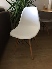 White replica Eames chairs (2) Vancouver, V6A