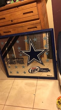 blue wooden frame dallas cowboys mirror Pharr, 78577