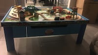 Blue wooden thomas the train table Kyle, 78640