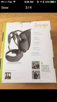 Snugli baby carrier box