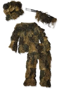 New Camouflage Youth Gillie Suit Size 14-16 Doral