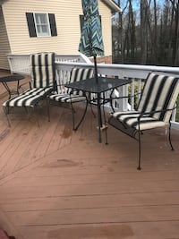 Patio set. With cushions.