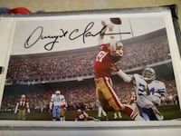 Dwight Clark Autographed 4x6 photos x2 Kingsport, 37663