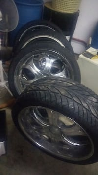 """Chevy 24"""" 6 bolt 5.5  rims and tires Calgary, T1Y 5M2"""