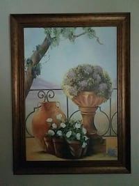 brown wooden framed painting of flowers Norman, 73072