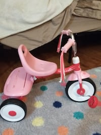 white and pink Radio Flyer trike West Springfield